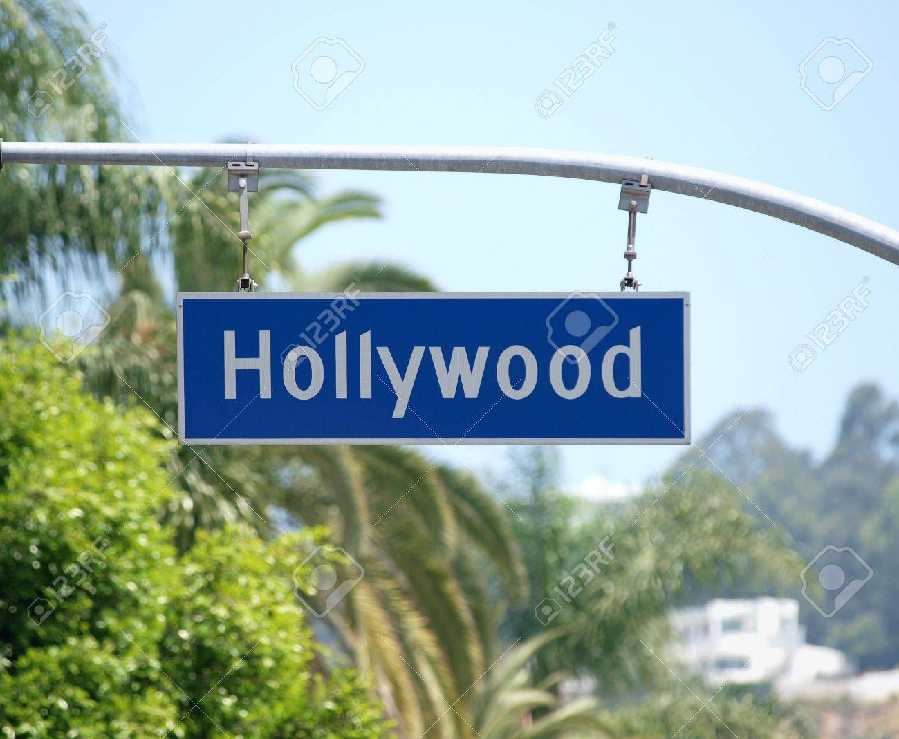 Hollywood Blvd sign with palm tree backdrop. Stock Photo - 4890954