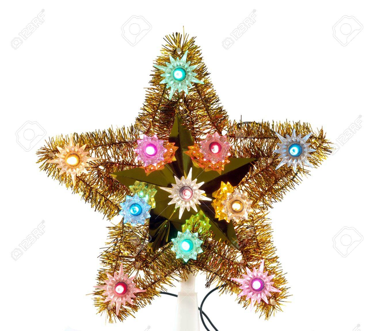 Stock Photo - Vintage Christmas tree star decoration from the 1960's.