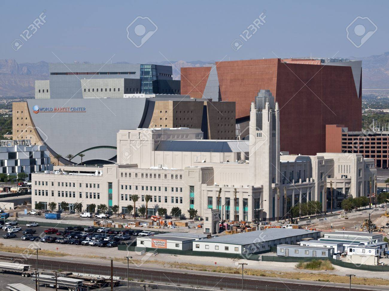 LAS VEGAS, NEVADA - Sept 9:  Construction nears completion on the 470 million dollar Smith Center for the Performing Arts.  The 2050 seat theater is set to open on March 10, 2012, in Las Vegas Nevada on September 9, 2011. Stock Photo - 10592745
