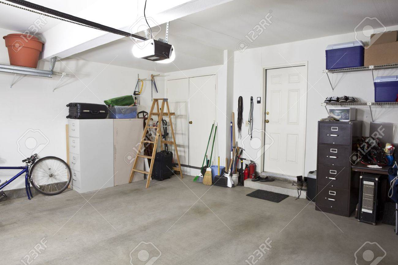 garage interior stock photos royalty free garage interior images garage interior clean empty swept interior suburban garage