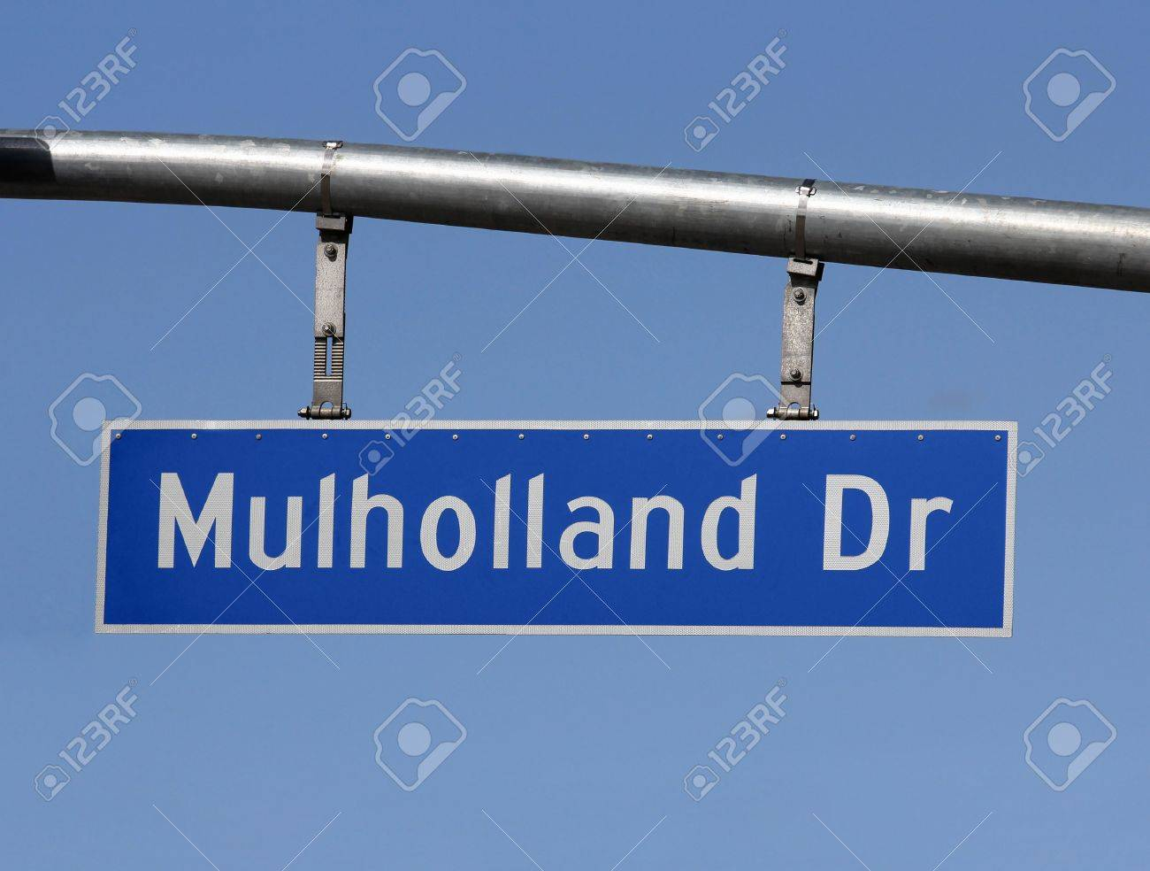 Famous Mulholland Drive Sign In The Hills Above Hollywood California