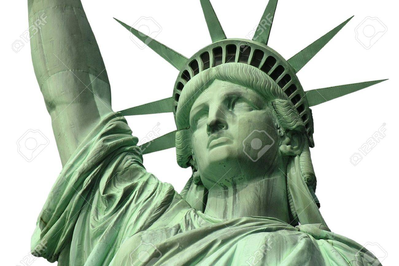 Isolated close up of New York's Statue of Liberty. Stock Photo - 13273959