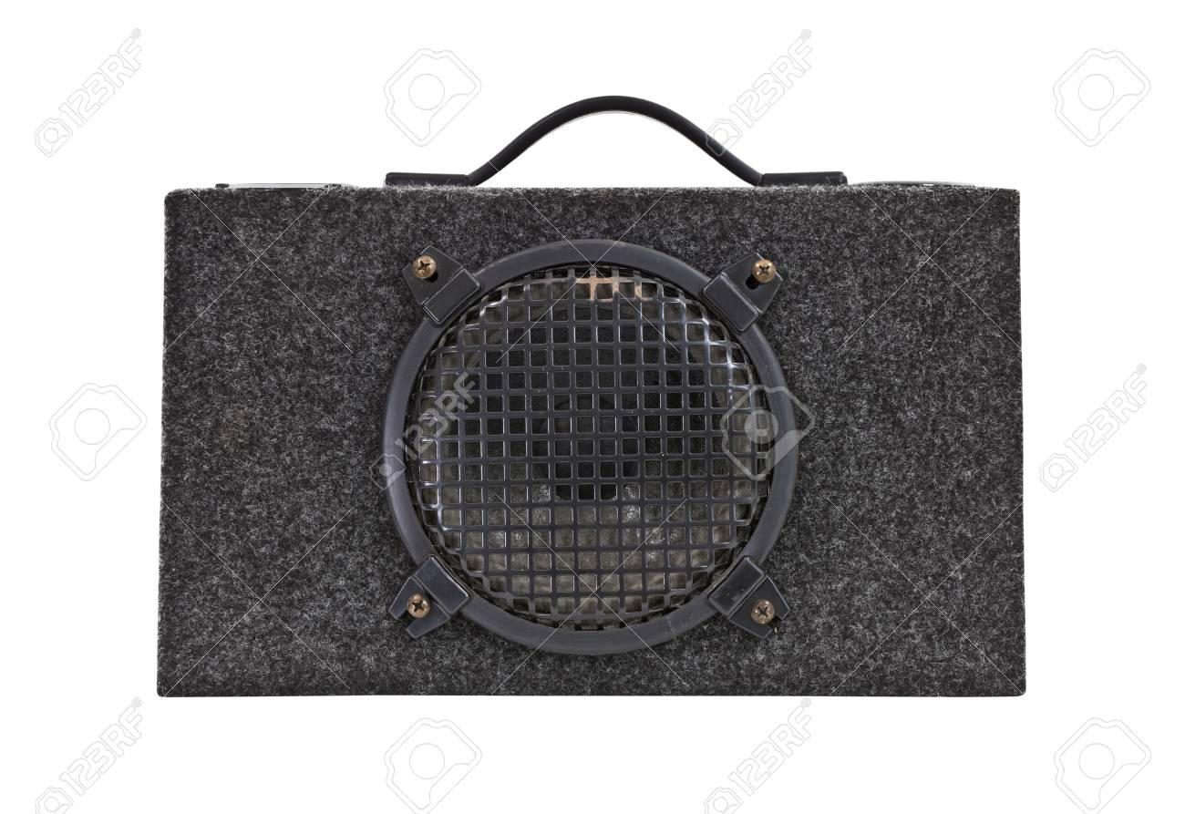 Vintage car audio boom box woofer Stock Photo - 14627524