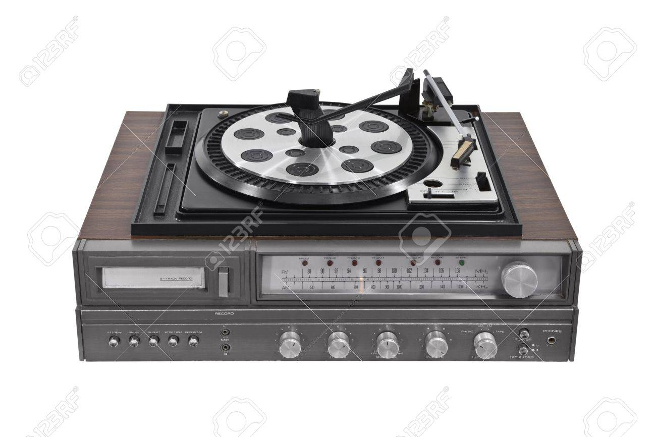 Vintage turntable stereo receiver isolated Stock Photo - 14732675