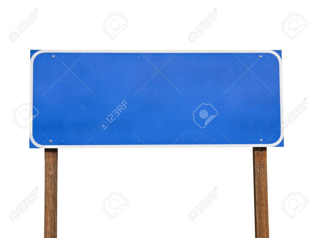 Blank blue road sign Stock Photo - 15329643