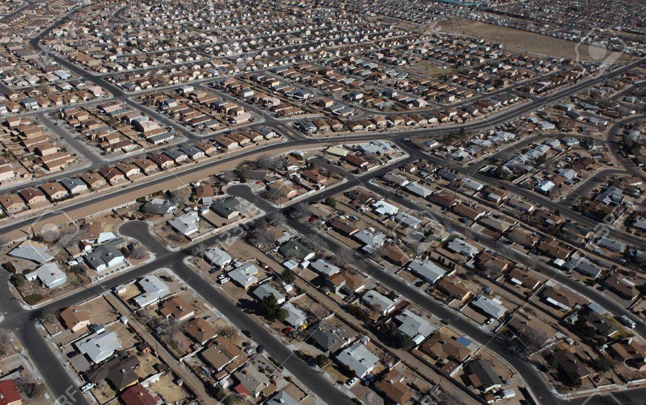 Albuquerque Homes Aerial Stock Photo - 18633463