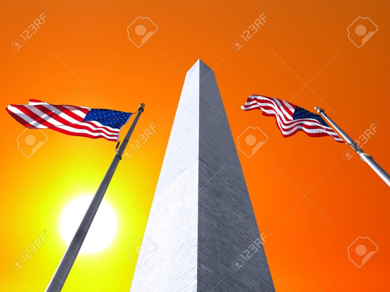 Sunrise sky and the Washington Monument in DC. Stock Photo - 19409181