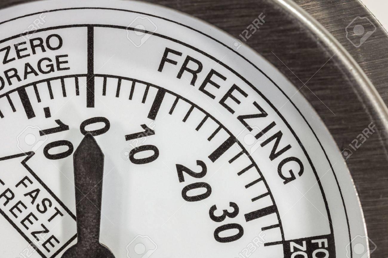 Kühlschrank Thermometer : Freezing zone kühlschrank thermometer makro detail lizenzfreie