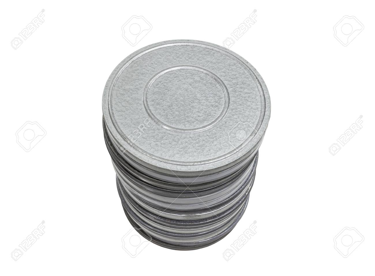 Vintage movie film cans isolated Stock Photo - 22023309