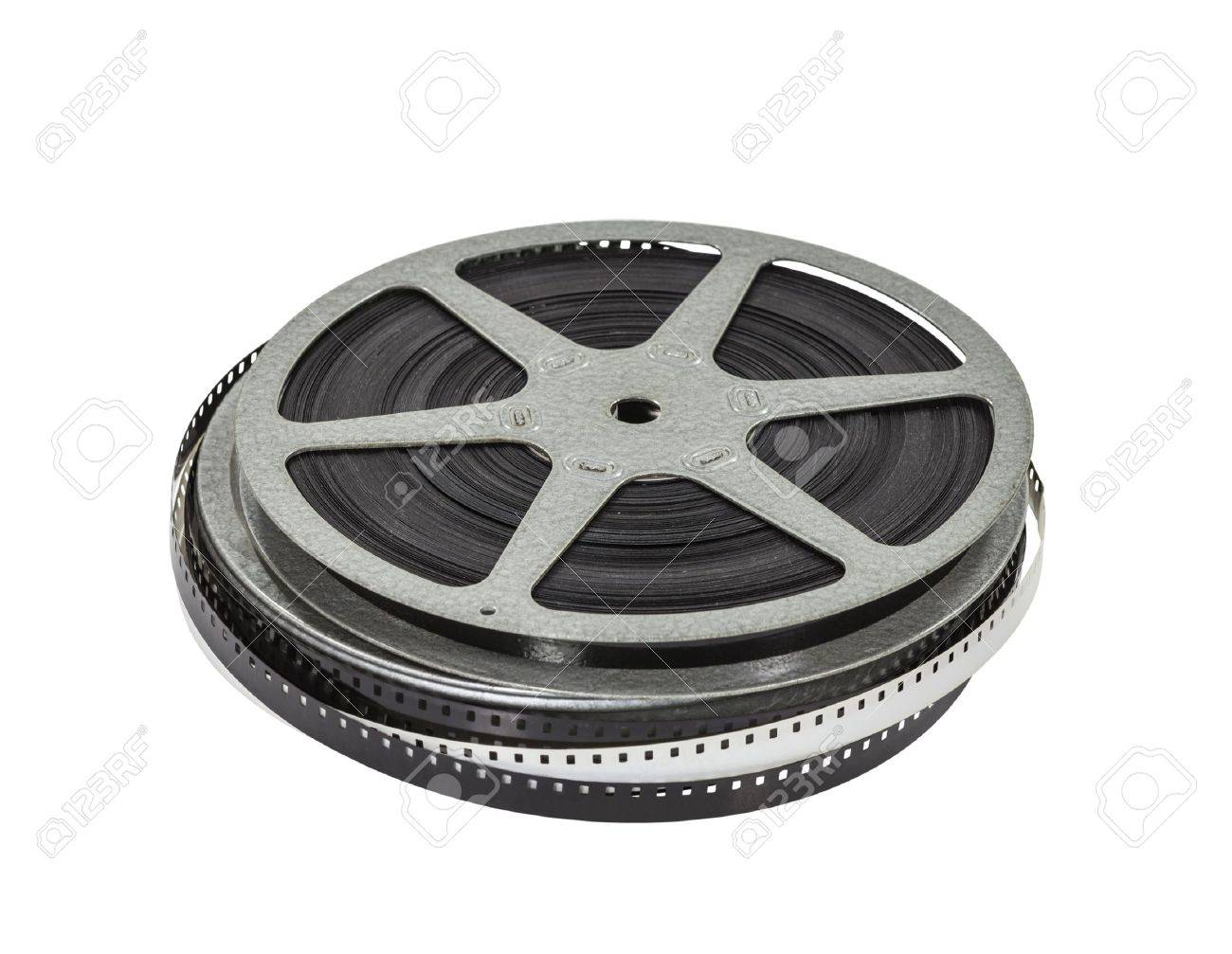 Vintage Home Movie Film Reel And Can Stock Photo Picture And