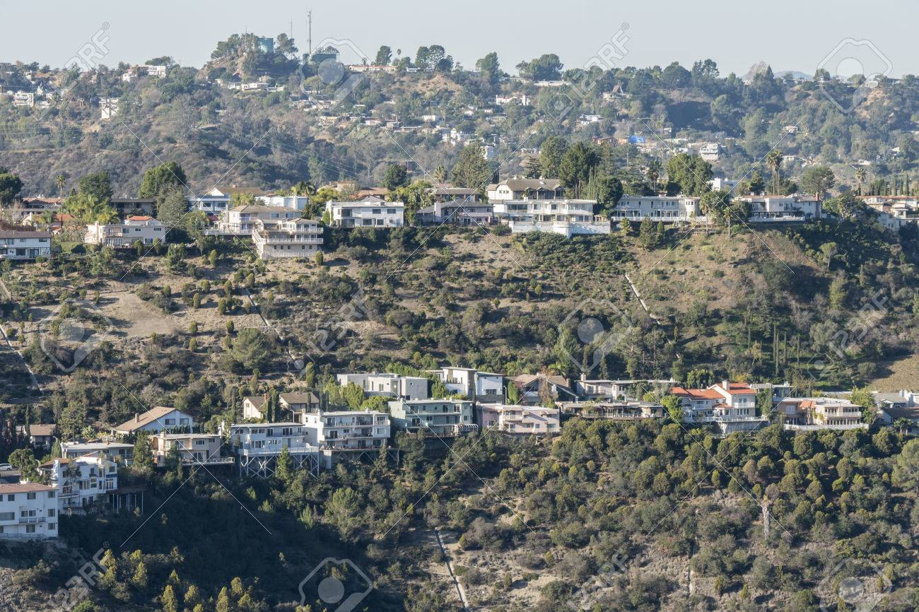 Rows Of Canyon Homes In The Hollywood Hills Above Los Angeles Stock Photo Picture And Royalty Free Image Image 35091138