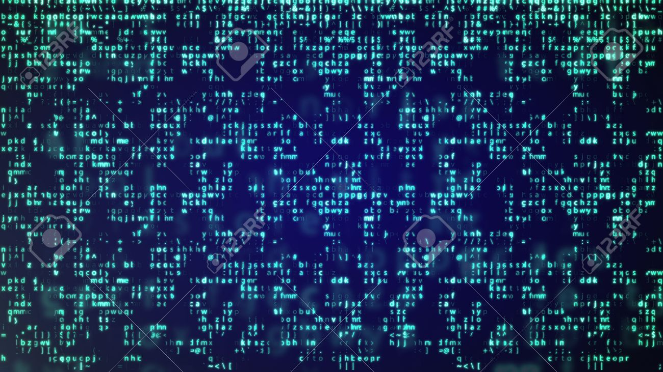 abstract blue technology background binary computer code