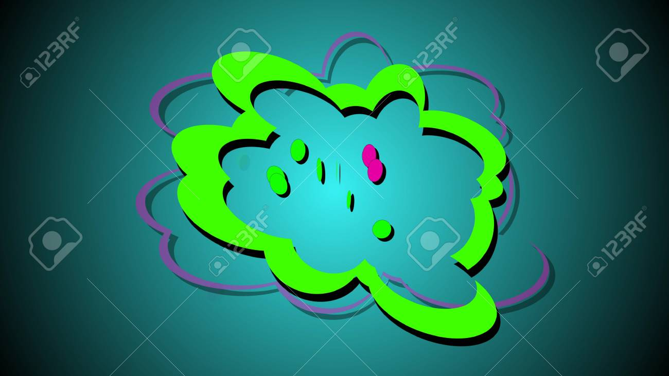 Colore Design Dessin D Explosion De Style Livre 3d Illustration