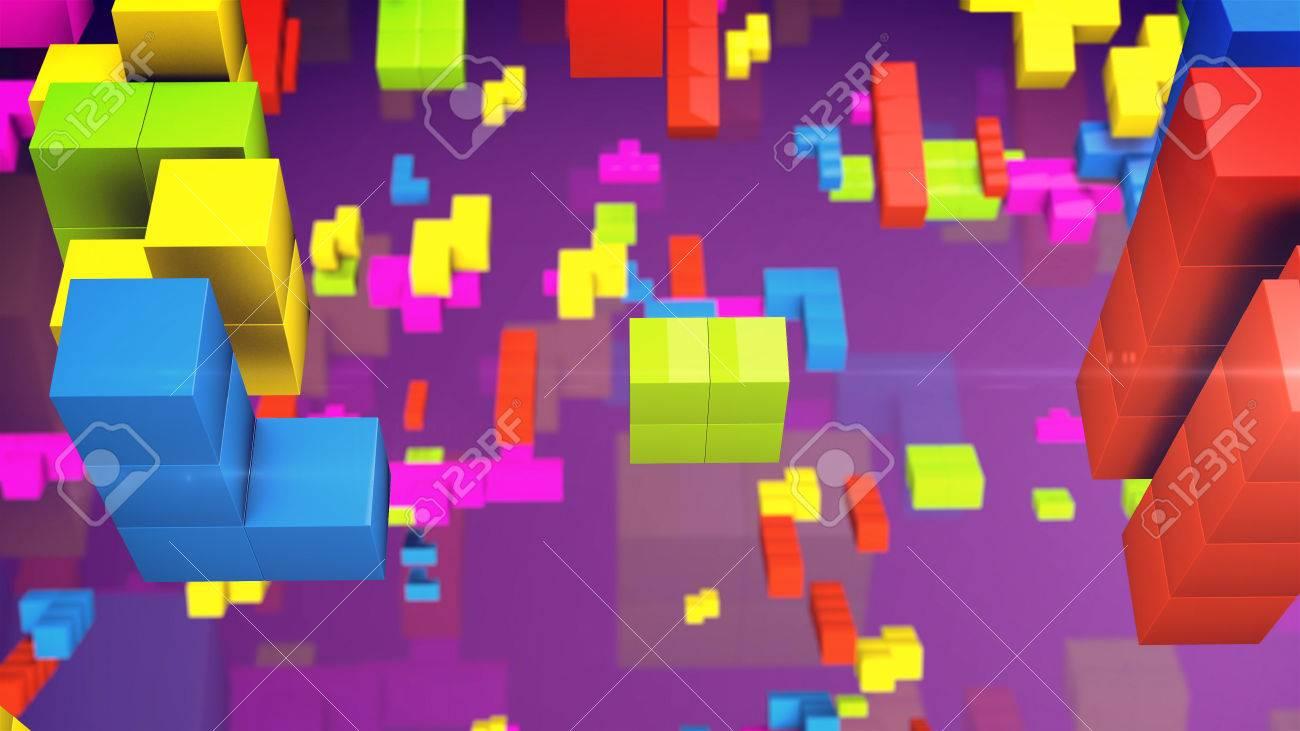 Videojuego De Edad Tetris Cuadrado La Linea De Ladrillos Piezas Del