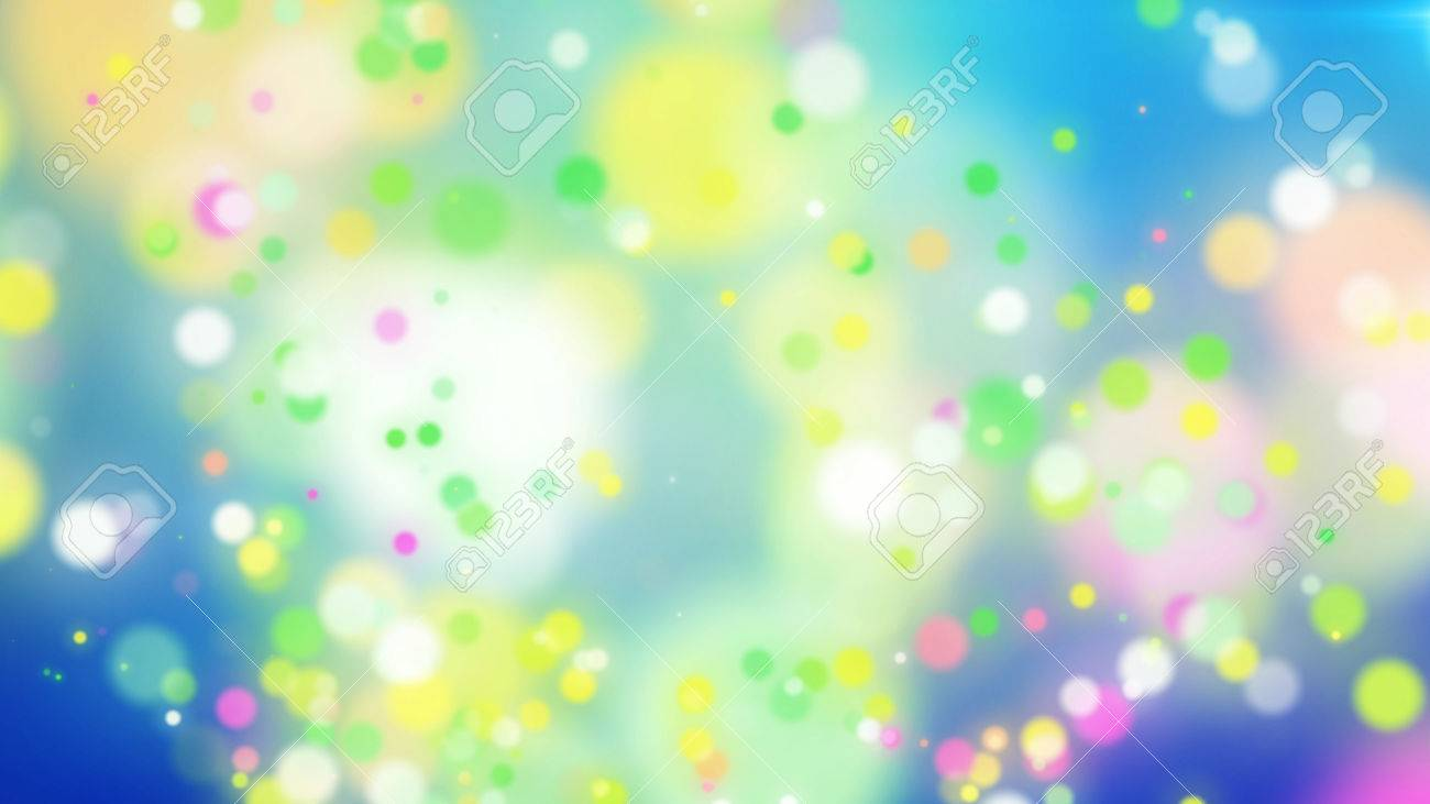 exciting 3d rendering of colorful particles on a light blue background with splashing white places