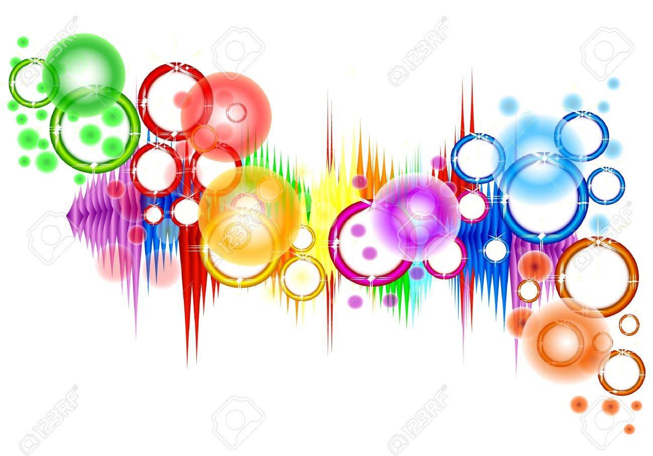 Abstraction a rainbow Stock Vector - 10543697