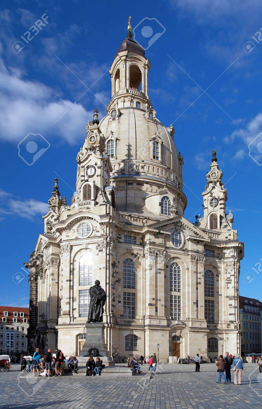 Frauenkirche (Church of Our Lady) and Monument to Martin Luther in Dresden, Germany Stock Photo - 11299922
