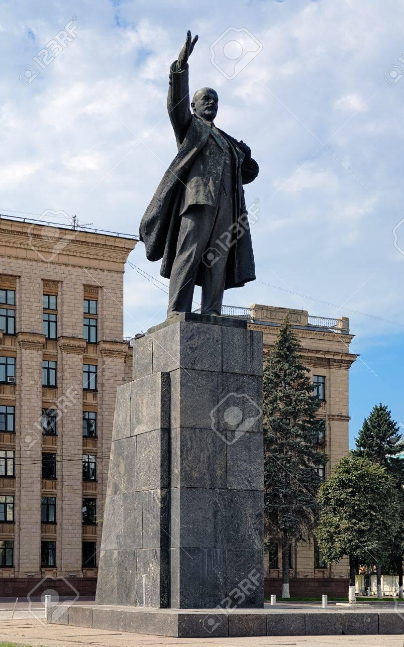 Lenin monument on the Lenin Square of Voronezh, Russia Stock Photo - 16428354