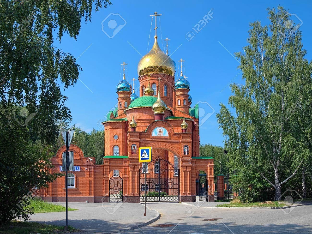 エカテリンブルク、ロシアでサロフのセラフィムの教会 の写真素材 ...