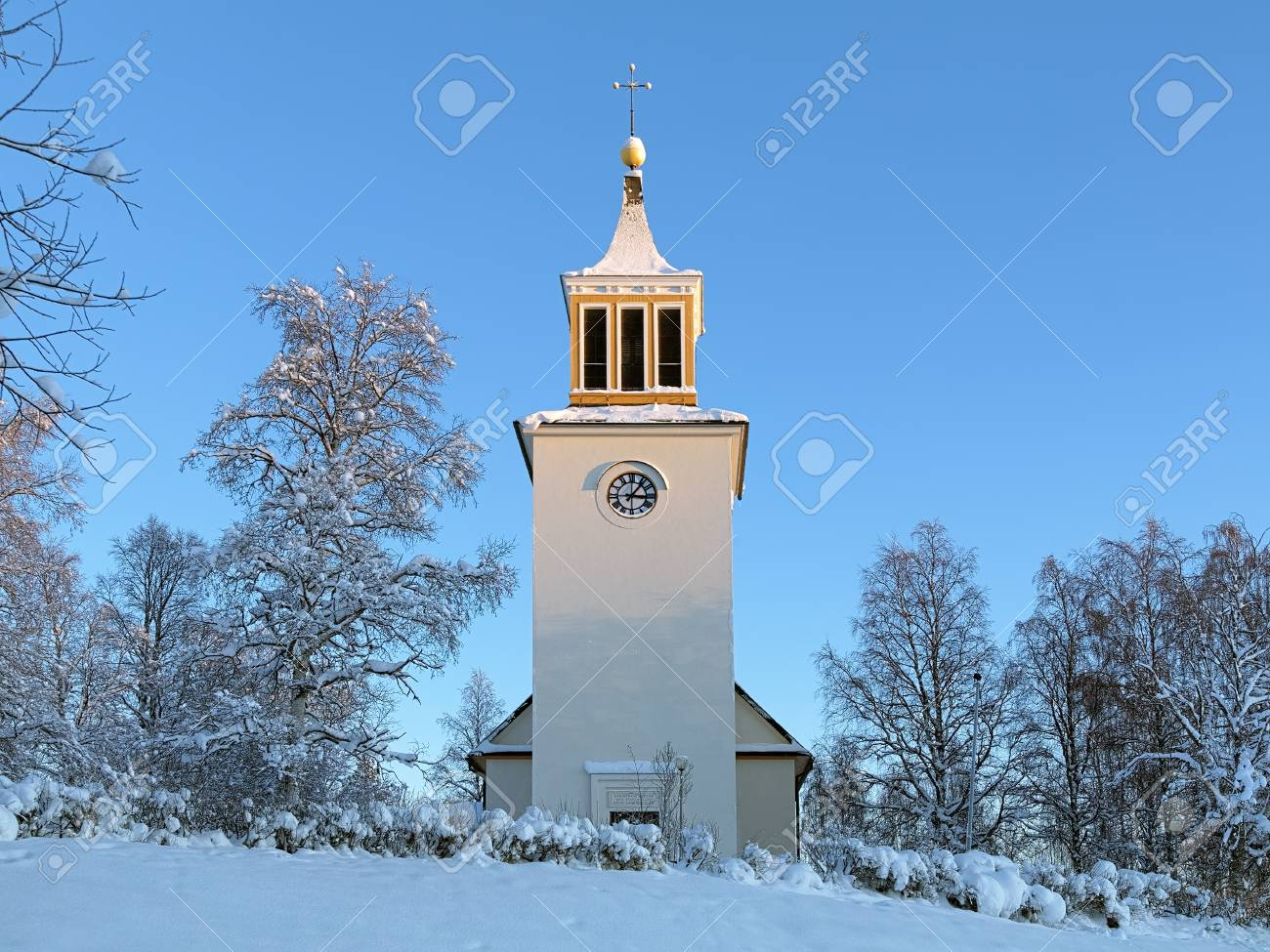 Dorotea Church in winter, Vasterbotten Province, Sweden Stock Photo - 17559568