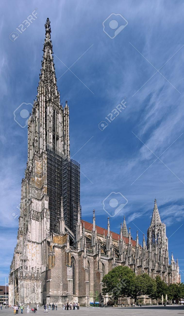 Ulmer Münster Das Höchste Kirche Der Welt Deutschland Lizenzfreie