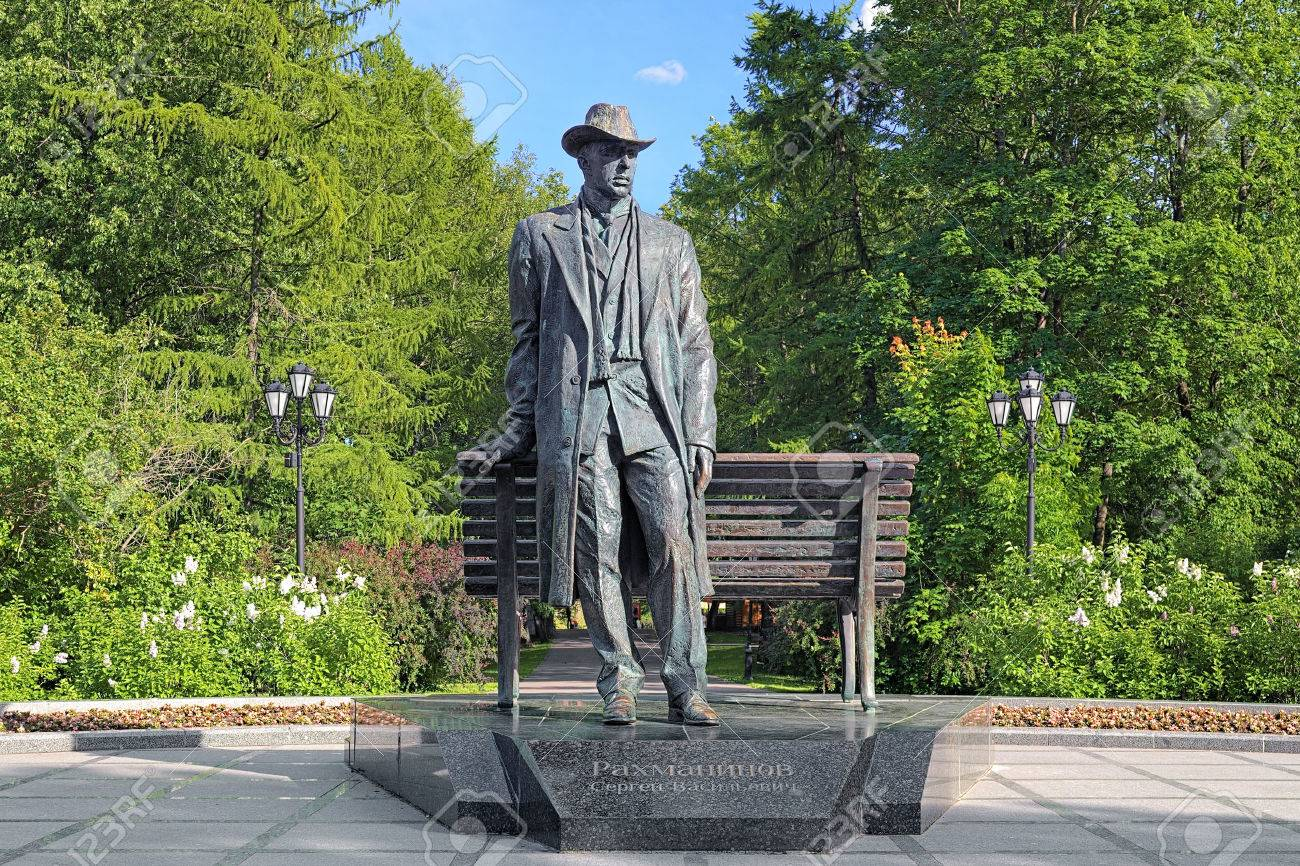 Monument to Sergei Rachmaninoff, a Russian composer, pianist