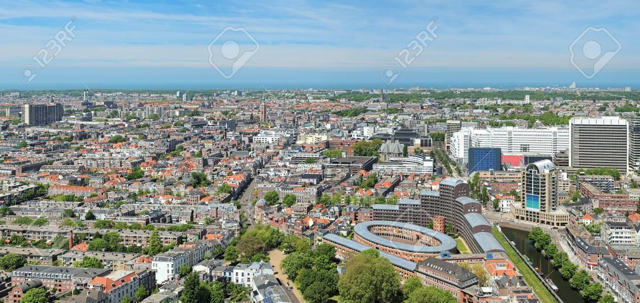 Panorama Di L Aia Dalla Terrazza Panoramica Al 42 Piano Del Grattacielo Het Strijkijzer Paesi Bassi