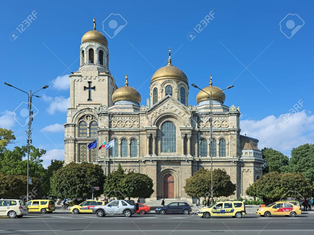 VARNA, BULGARIA - OCTOBER 3, 2017: Cathedral of the Dormition