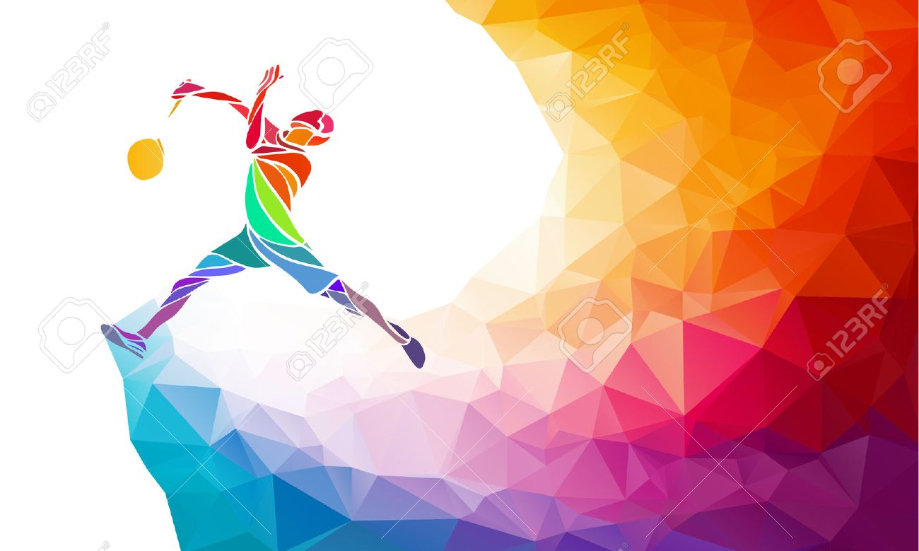 Badminton Sport Invitation Poster Or Flyer Background With Empty - Sports banner templates