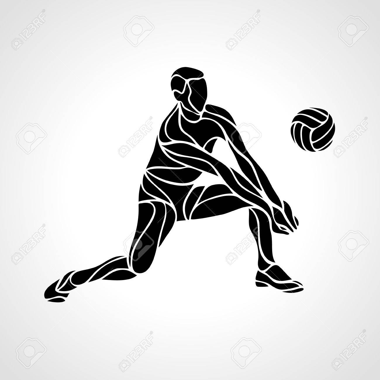 Volleyball Player Receiving Feed Silhouette Of A Abstract Volleyball Royalty Free Cliparts Vectors And Stock Illustration Image 55873884