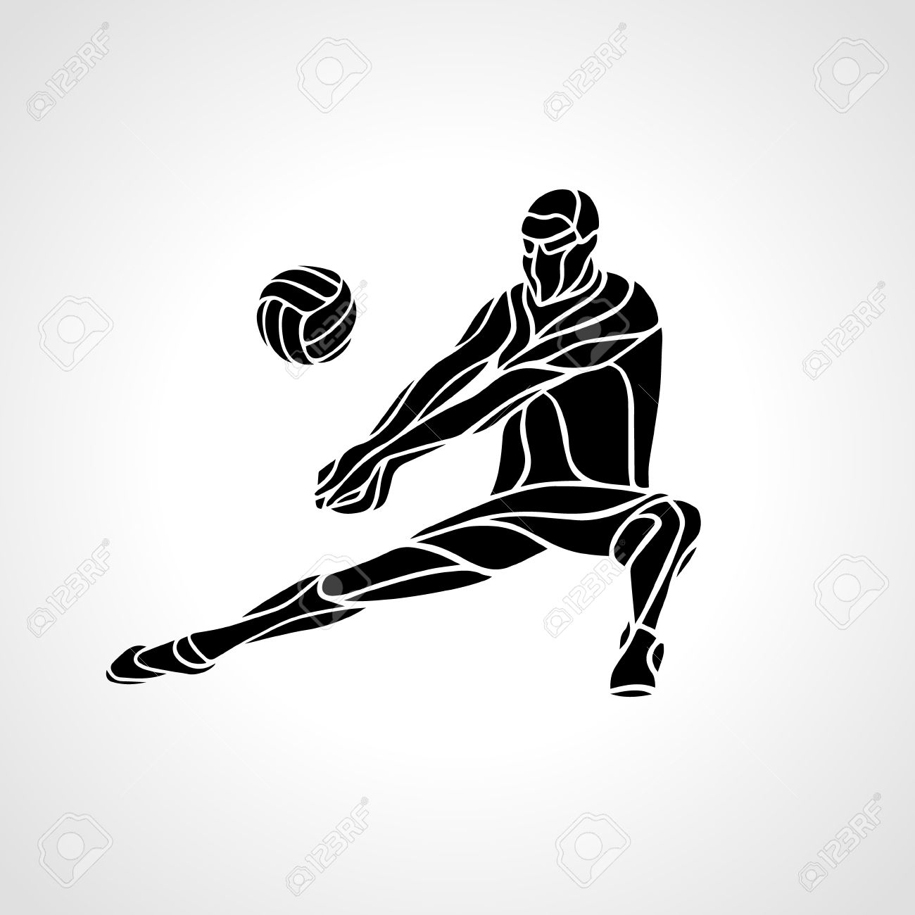 Volleyball Player Receiving Feed Silhouette Of A Abstract Volleyball Royalty Free Cliparts Vectors And Stock Illustration Image 55873975