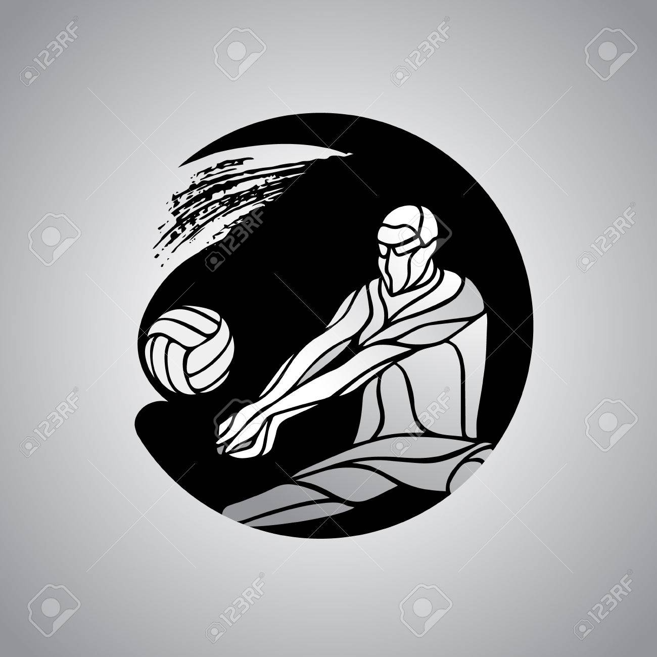 Volleyball Player Receiving Feed Icon Silhouette Of A Abstract Royalty Free Cliparts Vectors And Stock Illustration Image 56891200