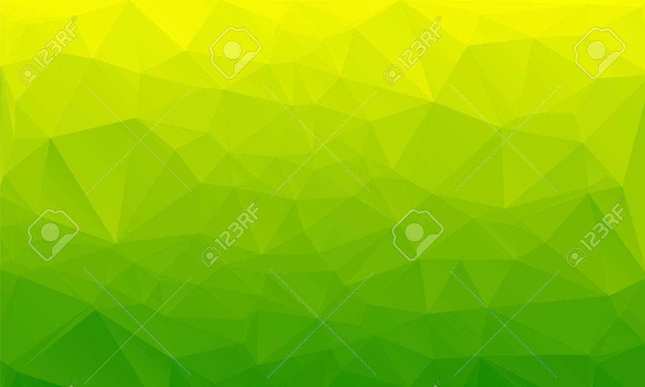 Salad green abstract polygonal geometric background -- low poly. Vector illustration - 60021923
