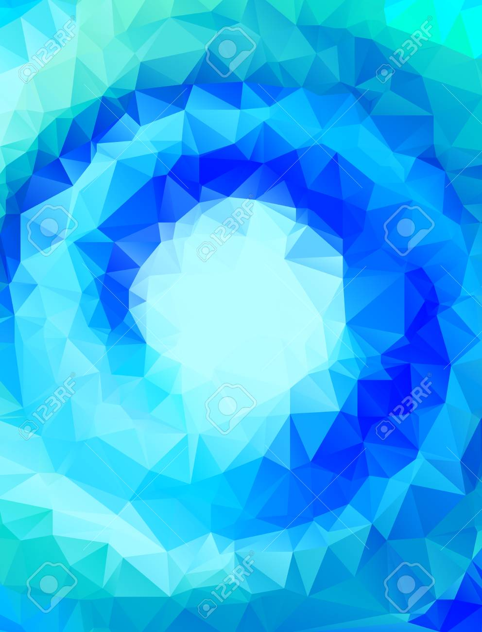 vector vector abstract polygonal blue swirl background or frame with empty space