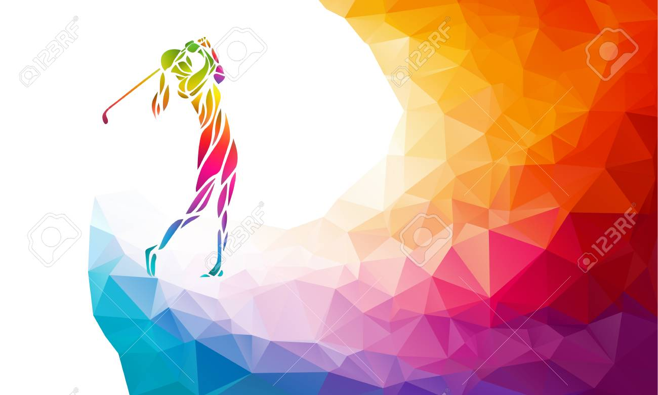 Silhouette of woman golf player. Vector eps10 - 88330757