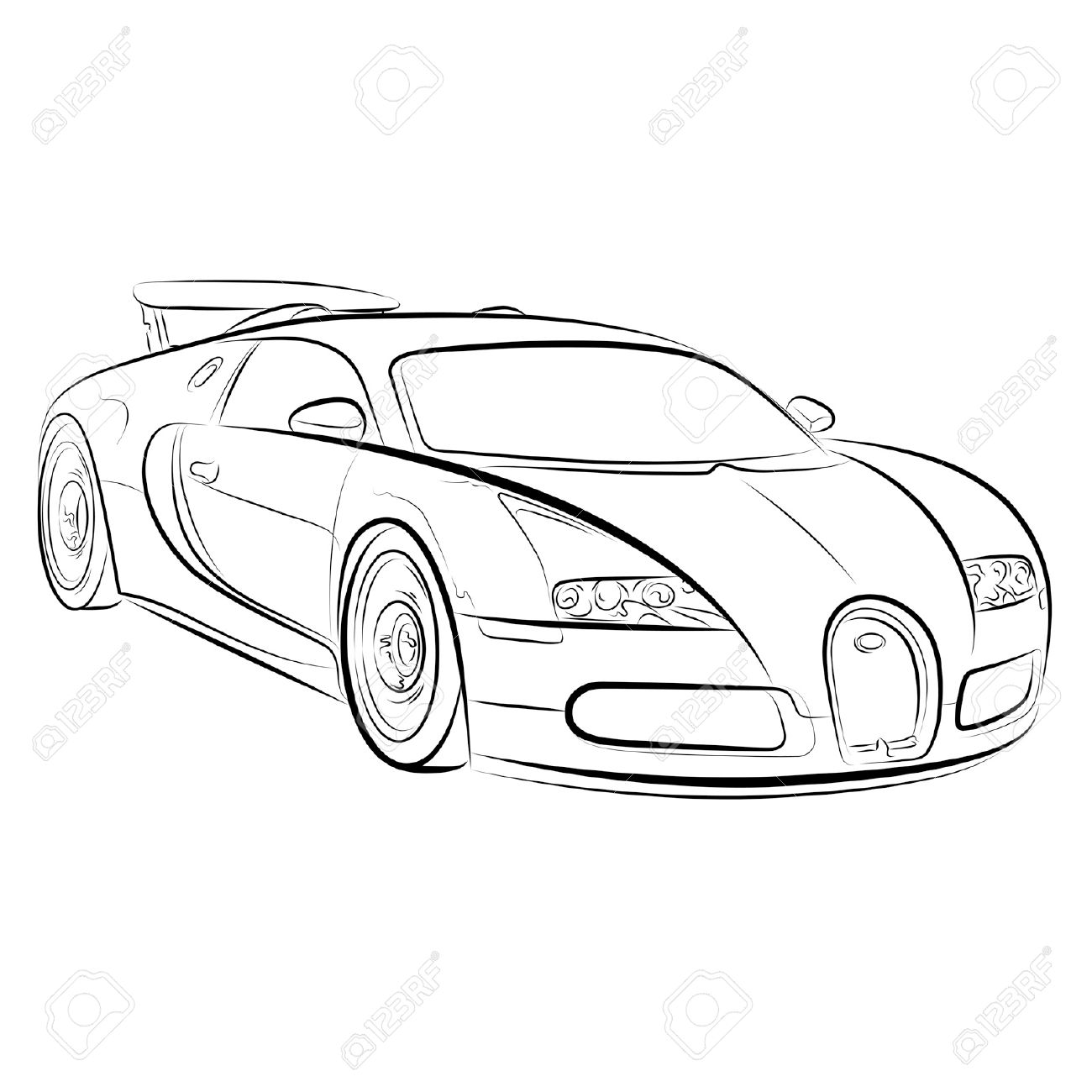 Drawing Of The Expensive Car. Royalty Free Cliparts, Vectors, And ...
