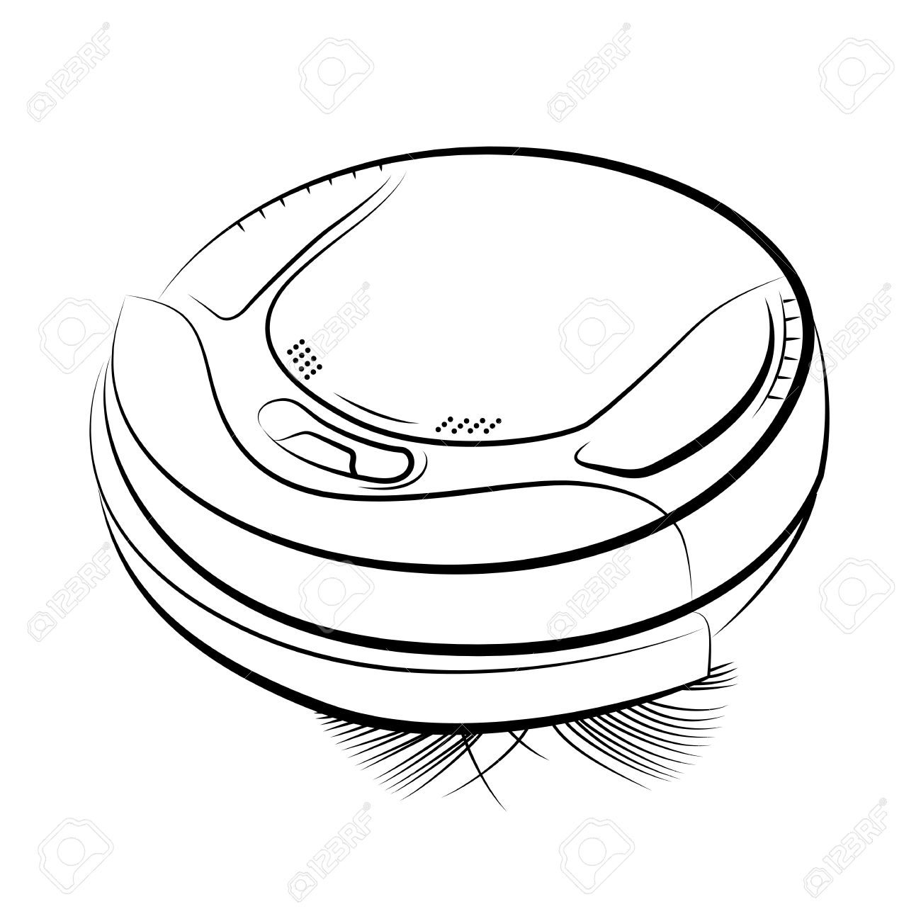 Vacuum cleaner clipart vacuum cleaner clip art - Drawing Of The Robotic Vacuum Cleaner Vector Illustration Stock Vector 29860436