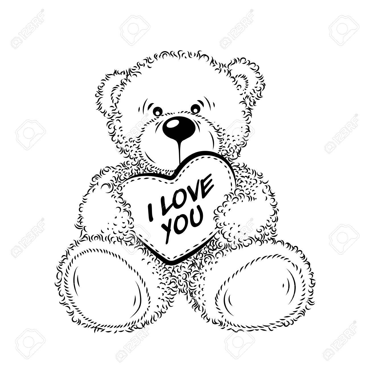 Cute drawing teddy bear with heart vector illustration royalty free cute drawing teddy bear with heart vector illustration stock vector 73414864 altavistaventures Image collections
