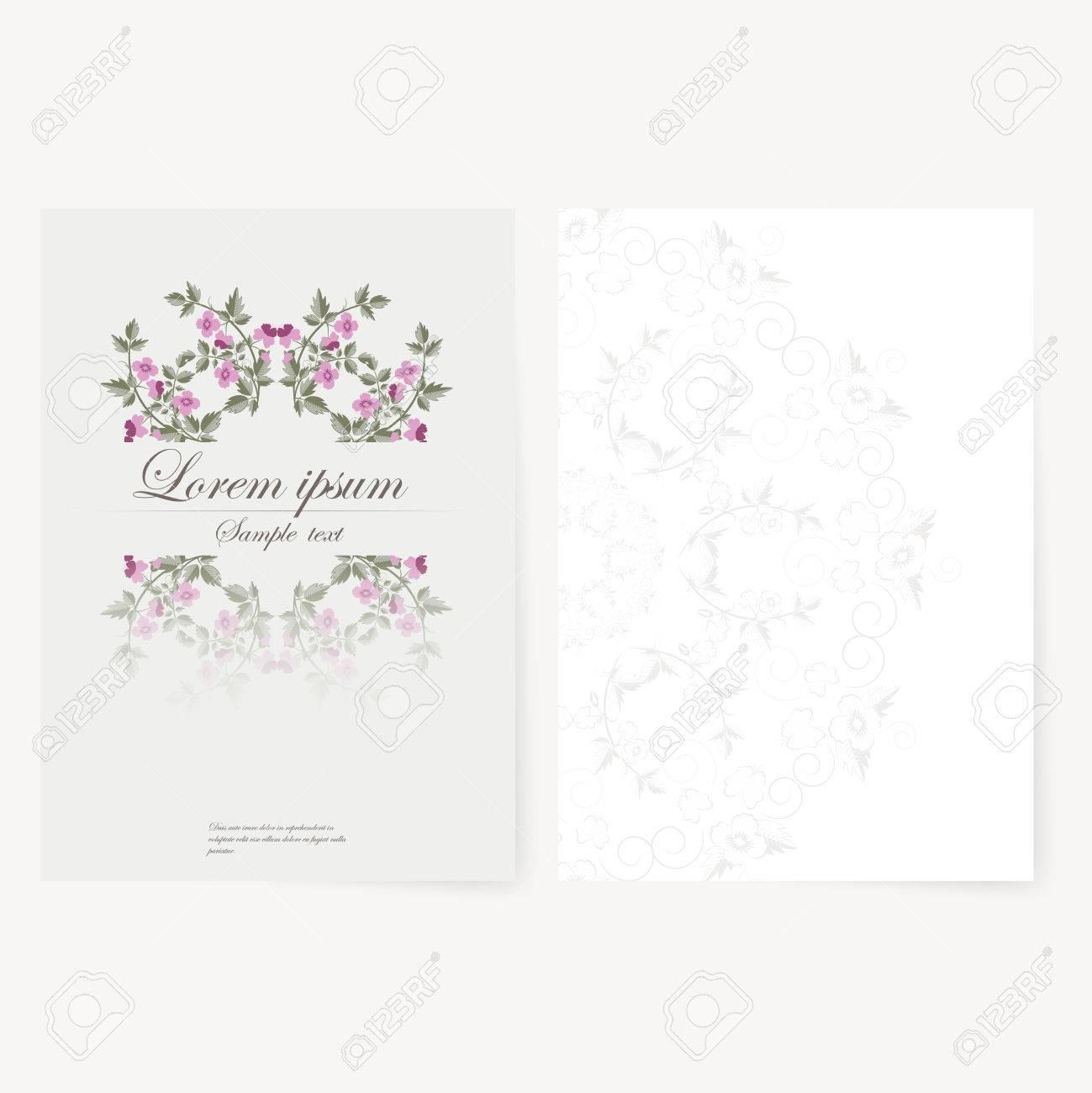 Modle Pour Le Dossier Brochure Carte De Visite Et Invitation D Anniversaire