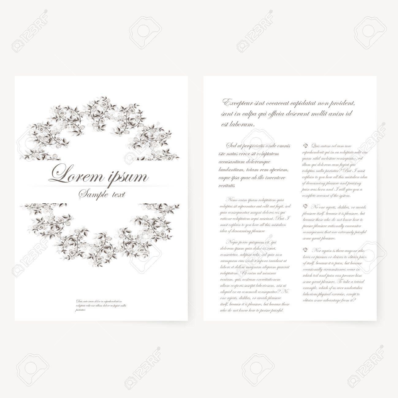Modle Vectoriel Pour Le Dossier Brochure Carte De Visite Et Invitation D Anniversaire
