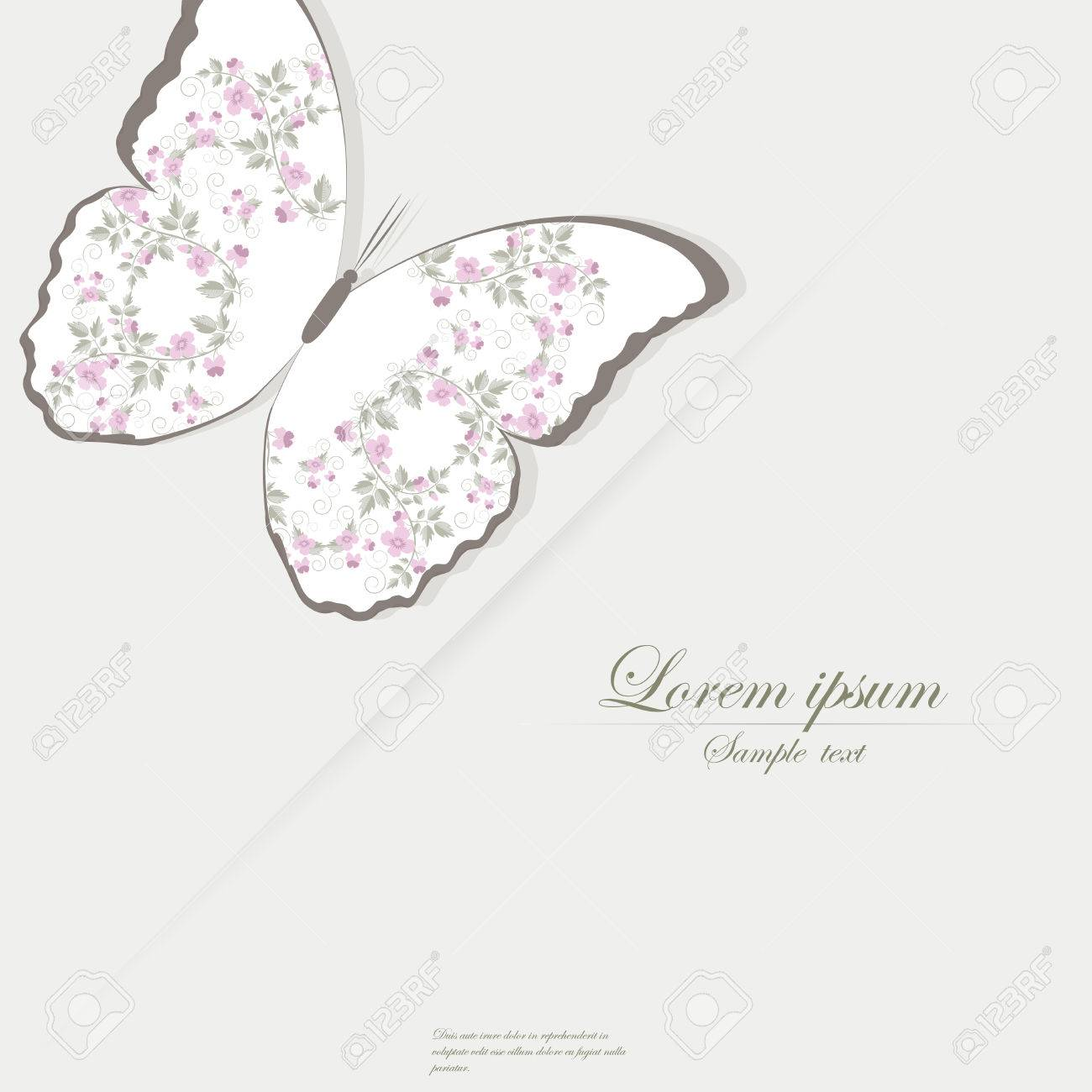 Vector Template For Folder, Brochure, Business Card And Birthday ...