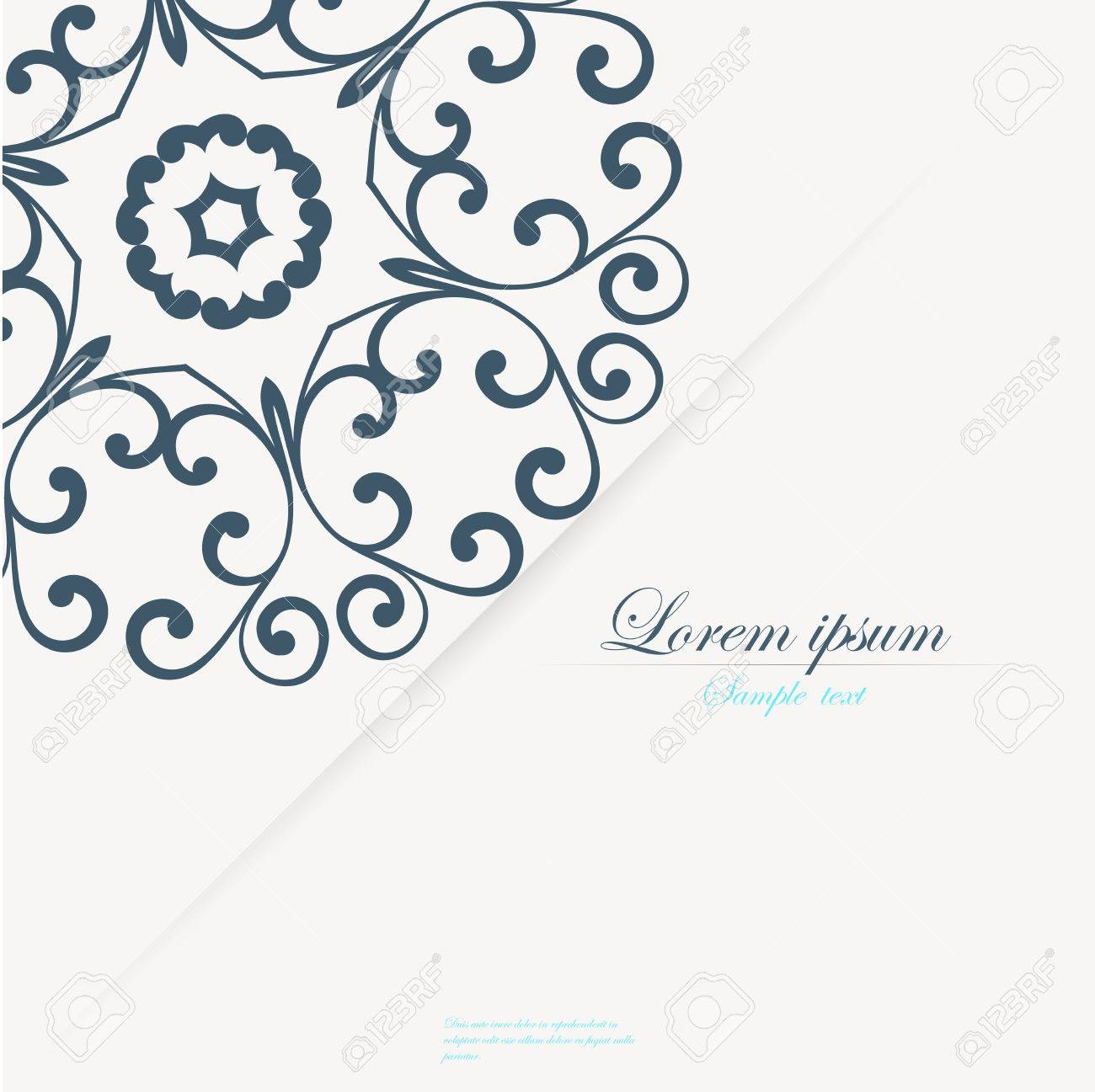 Vector Template For Folder Brochure Business Card And Birthday Invitation Stock