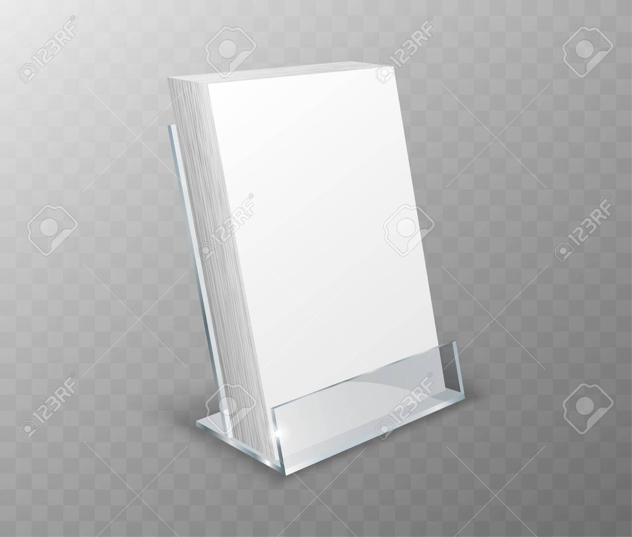 Acrylic holder, table display, glass plastic stand or desk rack..