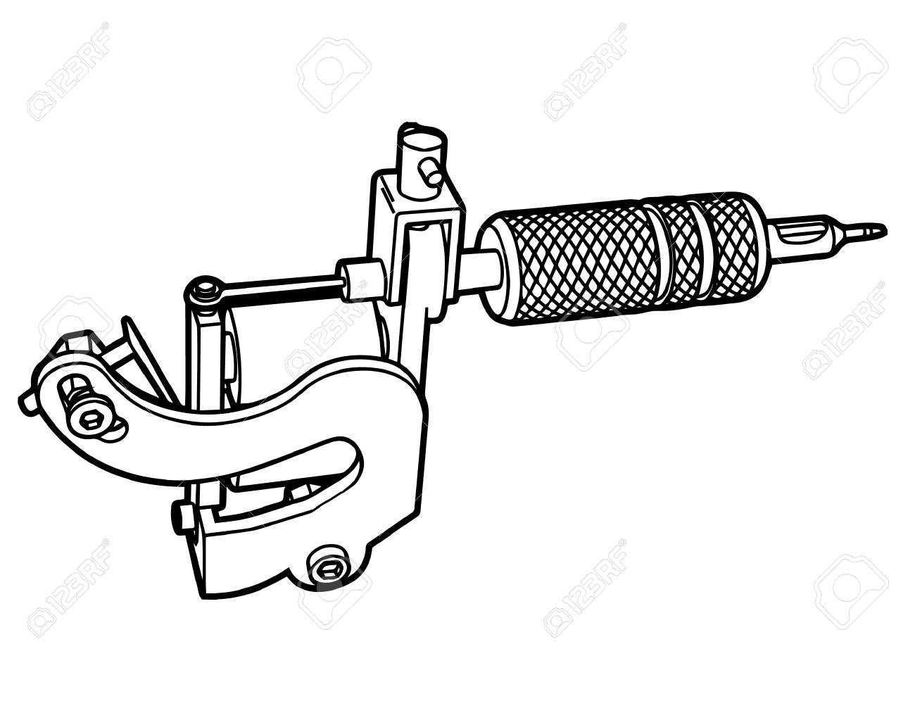Tattoo machine icon - 86435442