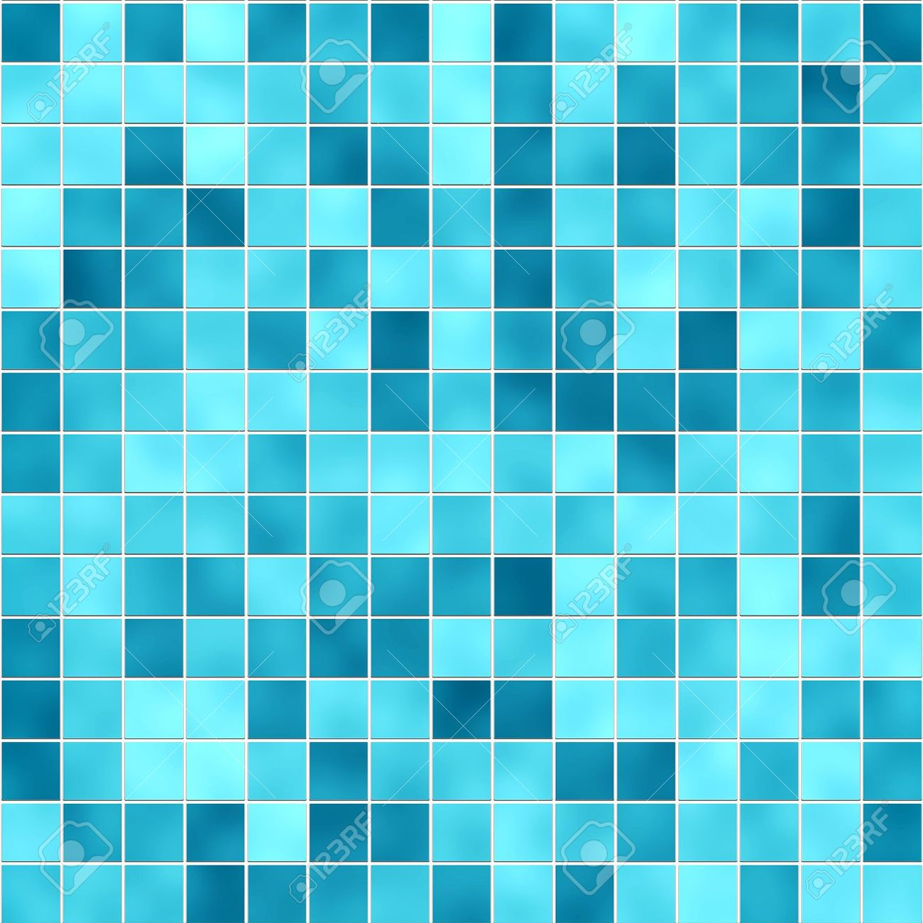Small Tiles Texture In Different Shades Of Blue Stock Photo, Picture ...
