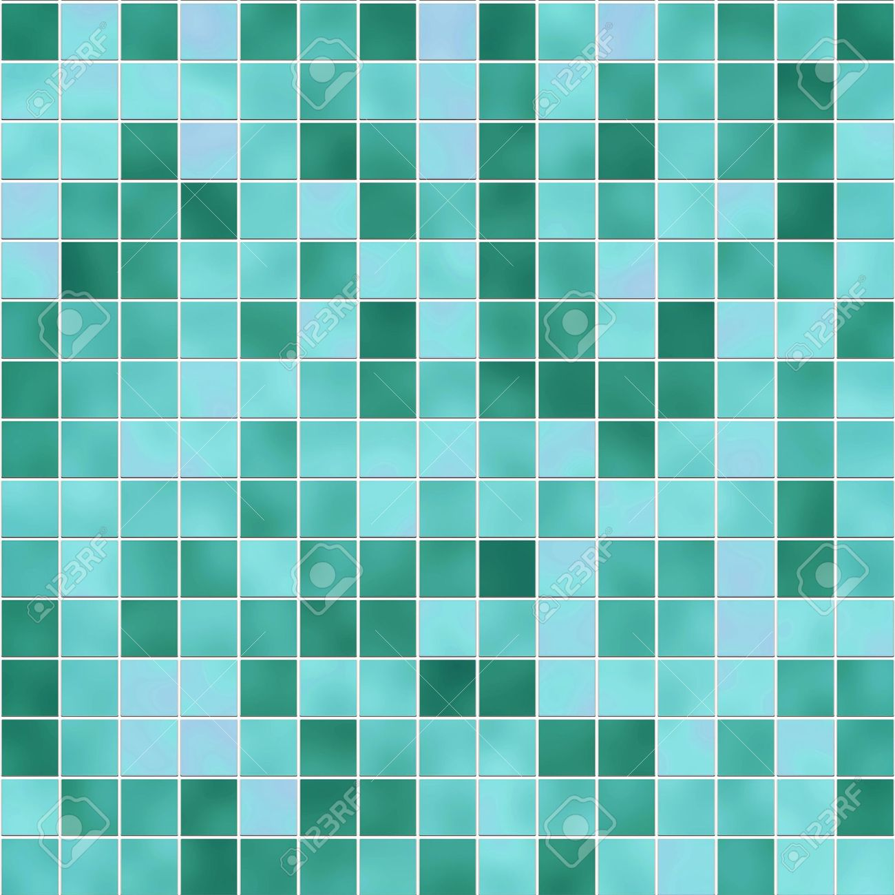 small tiles texture in diferent shades of green stock photo
