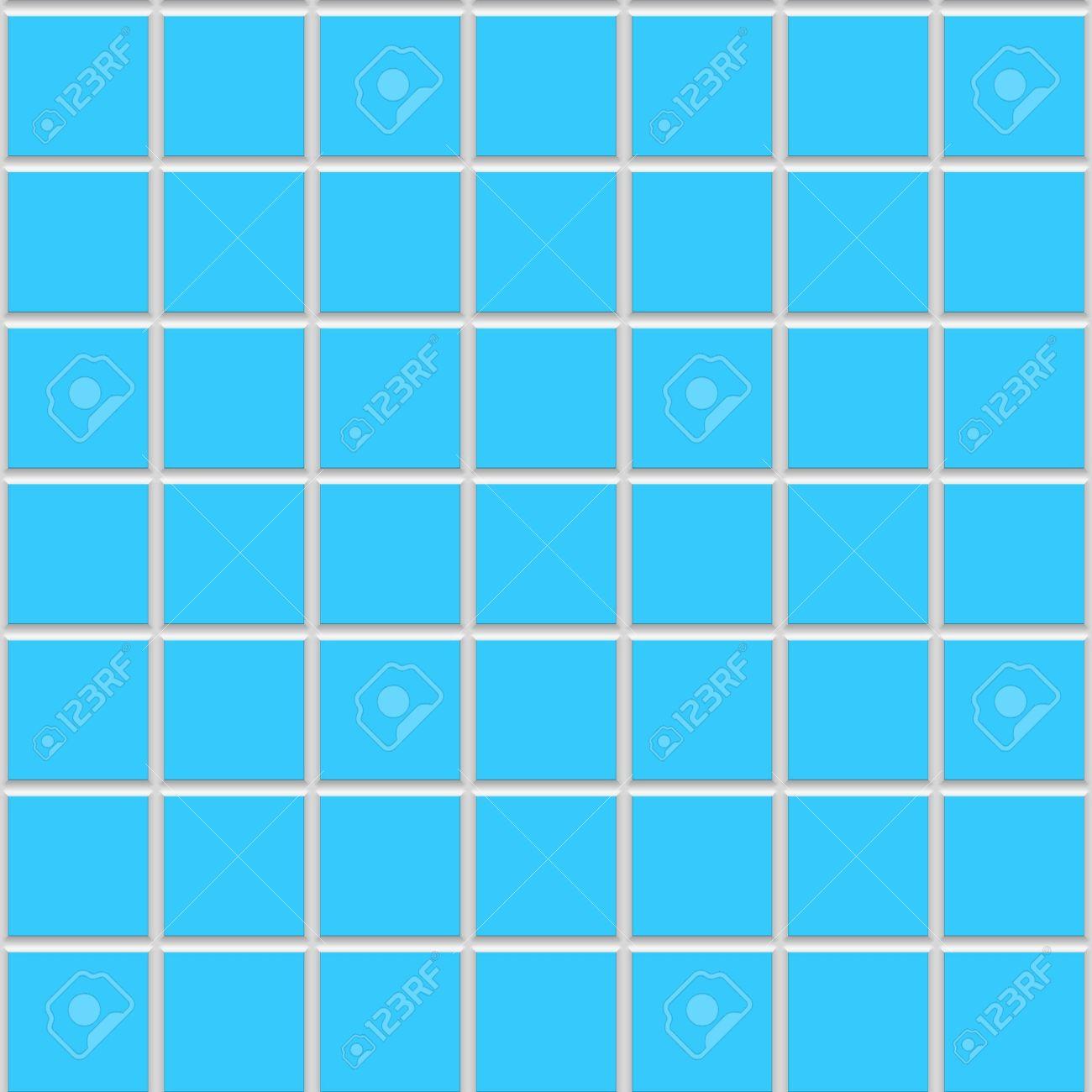 Blue Square Seamless Ceramic Tiles Texture
