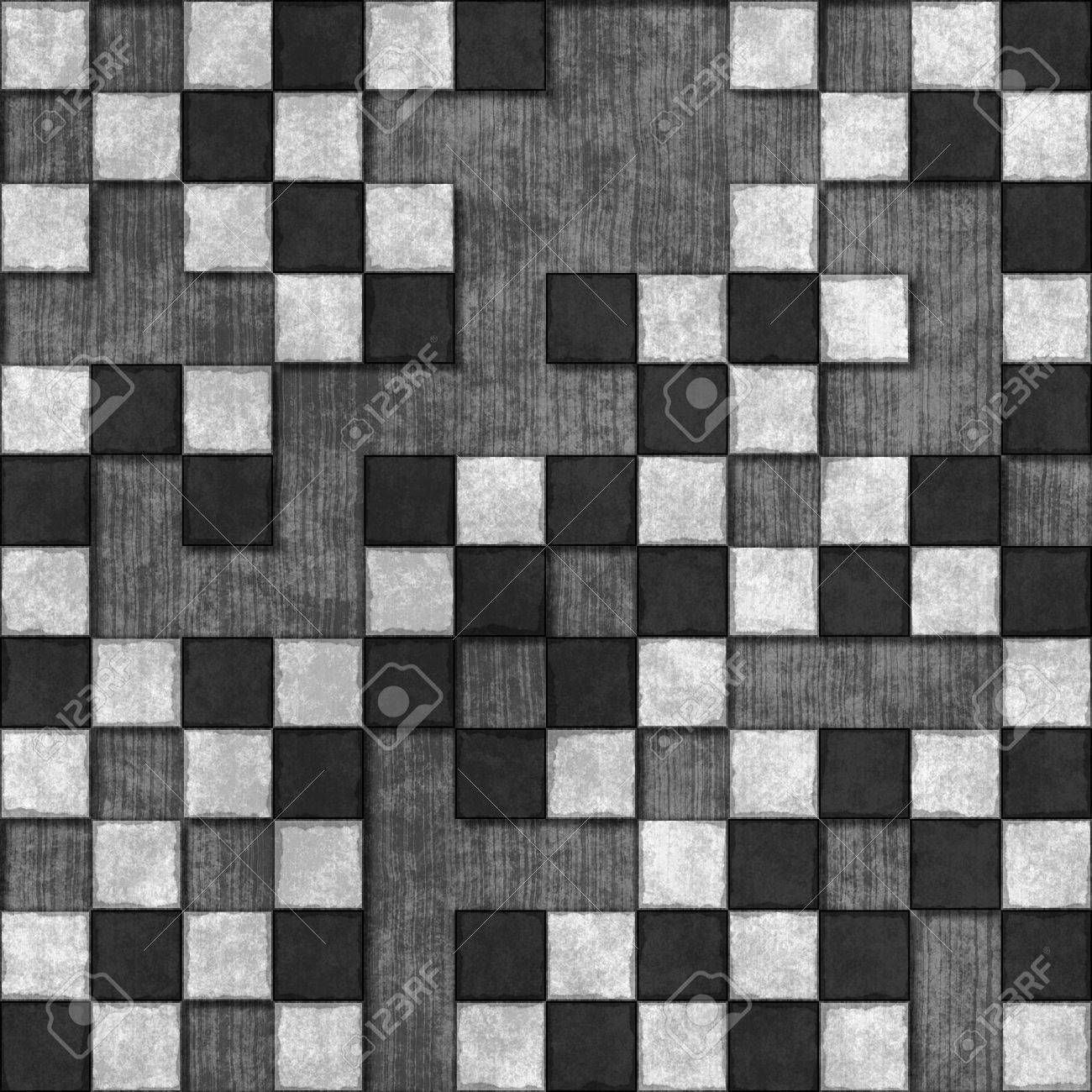 Seamless tiles texture with missing tiles in black and white Stock Photo    6559309. Seamless Tiles Texture With Missing Tiles In Black And White Stock