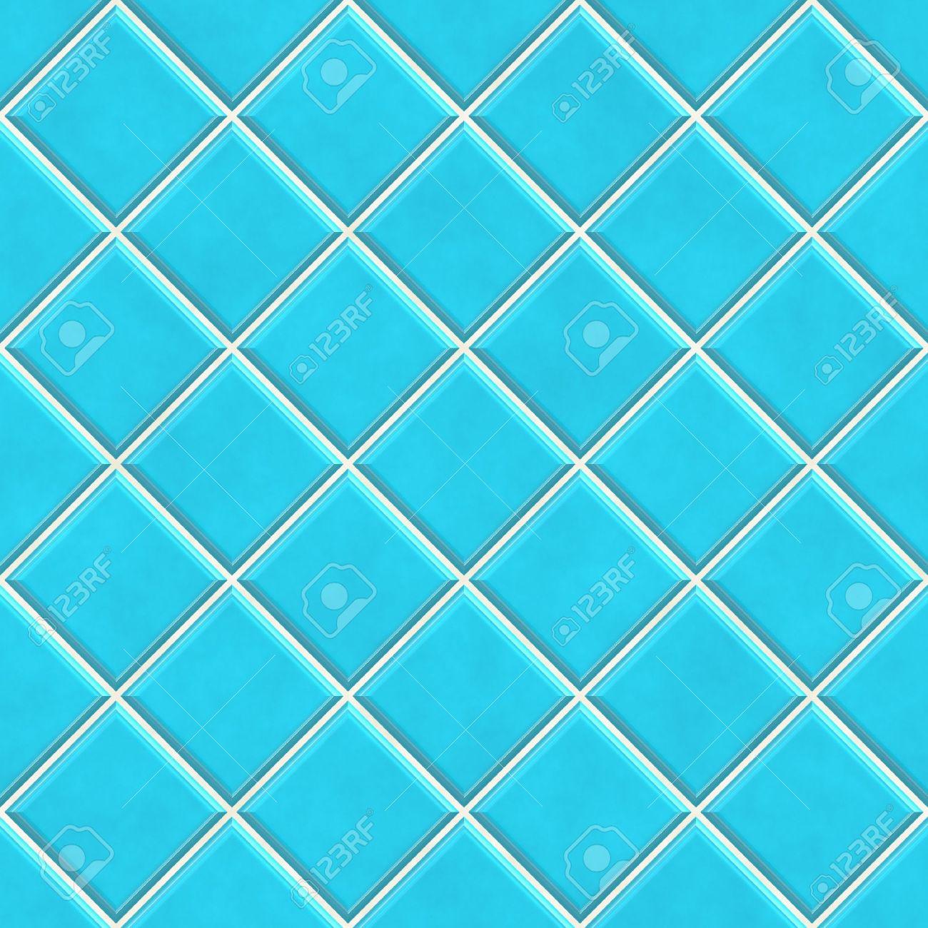 Nahtlose Blauen Fliesen Textur Hintergrund, Küche Oder Bad Konzept  Standard Bild   7306524