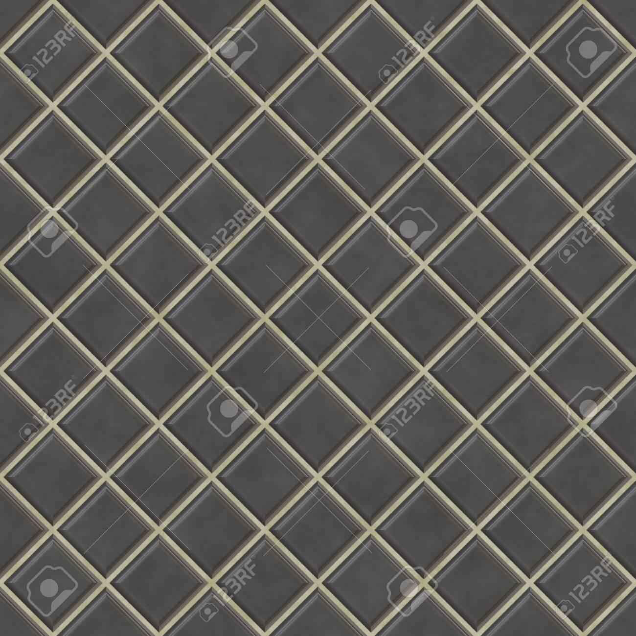 Gut Nahtlose Schwarzen Fliesen Texture Background, Küche Oder Bad Konzept  Standard Bild   7306528